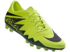 Chuteira Nike Hypervenom Iii Electric GreenBlack Hyper