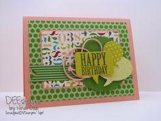 Happy Birthday Word Bubbles.  Deesigns by Nina Dee