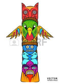 un totem lumineux et color  Banque d'images