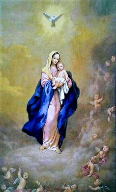 Blessed mother Mary and our Lord Jesus Catholic Art, Catholic Saints, Religious Art, Blessed Mother Mary, Blessed Virgin Mary, La Vie Des Saints, Queen Of Heaven, Mama Mary, Sainte Marie