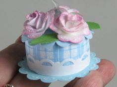 B-day TeaLight Cake by Cinderelly49 - Cards and Paper Crafts at Splitcoaststampers