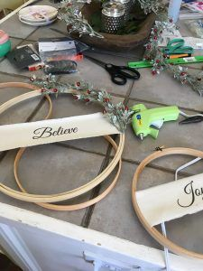 Learn how to create beautiful Christmas Hoop Wreaths to display in your home during the holiday season. The perfect DIY for those of a budget. Christmas Craft Show, Christmas Projects, Holiday Crafts, Christmas Holidays, Christmas Wreaths, Christmas Ornaments, Christmas Ideas, Christmas Girls, Christmas Stuff