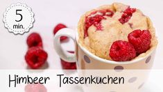 Veganer Himbeer-Tassenkuchen - Rezept von 5 Minute Recipes 5 Minute Meals, Smoothie Makers, Check Up, Diy Food, Cereal, Oatmeal, Vitamins, Make It Yourself, Dishes