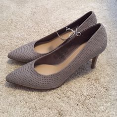 Grey Sparkle Heels Very pretty and ready to wear!  New and never worn with tags still attached!! Old Navy Shoes Heels