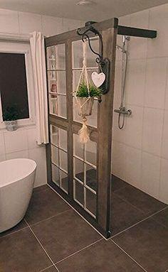 Glass shelves Kitchen Shelf Brackets - Built In Glass shelves Living Room - - Ikea Glass shelves Bathroom Renos, Laundry In Bathroom, Small Bathroom, Upstairs Bathrooms, Rustic Bathrooms, Glass Shelves Kitchen, Shower Remodel, Bathroom Inspiration, Interior Inspiration