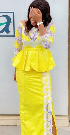 nous - Brenda O. African Lace Styles, Latest African Fashion Dresses, African Print Dresses, African Dresses For Women, African Print Fashion, African Attire, Style Africain, African Traditional Dresses, Ideias Fashion