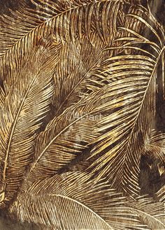 'Golden leaves' by - Millions of unique designs by independent artists. Find your thing. Gold Wallpaper, Wallpaper Backgrounds, Tapete Gold, Feuille D'or, Gold Aesthetic, Golden Leaves, Gold Leaf, Textures Patterns, Aesthetic Wallpapers