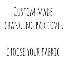 Changepad cubierta, equipada cambio de almohadilla cubierta, amueblada Changepad cubierta - elija su tela / hecho por encargo