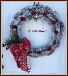 Winter, Christmas, Pine Cone, Holiday, Wreath by A Noble Touch by ANobleTouch on Etsy