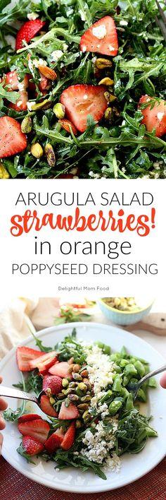 Arugula Salad With Strawberries and Fetta
