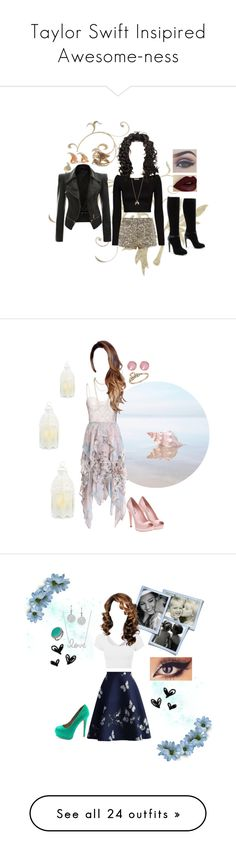 Taylor Swift Insipired Awesome-ness by melissa-f on Polyvore featuring polyvore fashion style Parisian Bellezza Torn by Ronny Kobo COSTUME NATIONAL Minor Obsessions Palm Beach Jewelry clothing Zimmermann Candela Scott Kay Miu Miu Ted Baker Topshop Chicwish LE3NO Ileana Makri Sydney Evan Charlotte Russe Philippa Roberts Jewelry JustFab Amrita Singh H&M Motel Chantal Thomass Sergio Rossi LeiVanKash Elizabeth and James Charlotte Tilbury Madden Girl Gorjana Sara Bencini French Connection Sud…