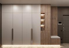 Dark and blue apartment — AZARI ARCHITECTS Wardrobe Interior Design, Wardrobe Design Bedroom, Bedroom Furniture Design, Home Decor Furniture, Home Interior Design, Hallway Furniture, Modern Wardrobe, Sliding Door Wardrobe Designs, Wardrobe Doors