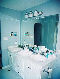 Choosing Bathroom Vanities: Custom Blue Bathroom Vanity ~ Bathroom Inspiration