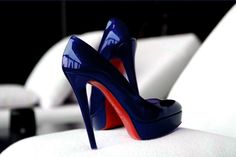The only thing better than blue suede shoes is blue patent shoes (by Christian Louboutin, of course!)
