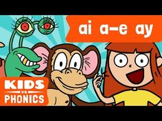 ai, a_e, ay sounds; Phonics Song, Jolly Phonics, Teaching Phonics, Teaching Reading, Teaching Ideas, Ae Words, J Sound, Phonics For Kids, English Phonics