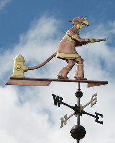 Fireman Weathervane - Custom Design Firefighter, Custom Design, House Ideas, Boys, Garden, Baby Boys, Garten, Firefighters, Gardens
