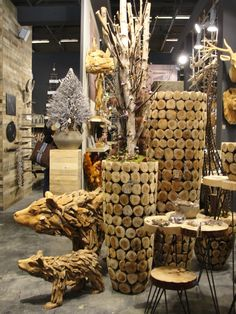 DIJK NATURAL COLLECTIONS - Big elements for a wooden natural deco. Maison & Objets January 2015