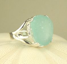 Eco Friendly GENUINE Sea Glass Ring Sterling by seaglassgems4you, $75.00