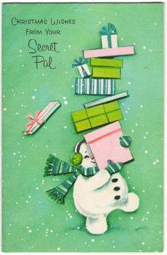 Vintage Pastel Frosty Christmas Card