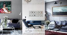 Subtilt och avskalat, men ändå en färgklick i inredningen. Den blå soffan är en klassiker likväl som den är omåttligt populär – och det är lätt att förstå varför.
