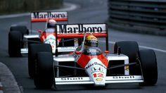 Le due McLaren-Honda MP4/4 di Ayrton Senna e Alain Prost - 1988