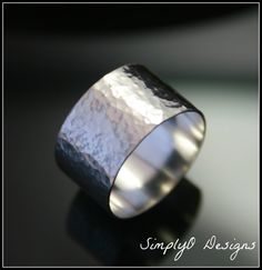 Hey, I found this really awesome Etsy listing at https://www.etsy.com/listing/123351257/silver-hammered-ring-textured-ring