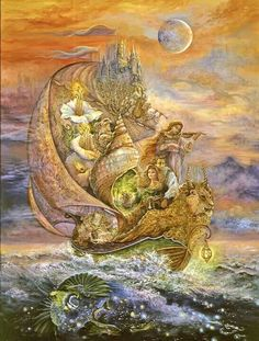 Voyage to Murrlis sea, by Josephine Wall