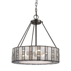 ELK Lighting 70212/3 Ethan Collection Tiffany Bronze Finish