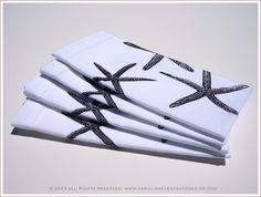 Starfish Napkins; set of 4