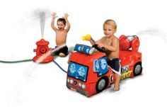 Fisher Price un Squirt Fire Truck Inflatable Fire Engine: Amazon.co.uk: Toys & Games