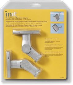Init Home Theater Speaker Mount Kit 2 Pack White By 637 Secure Your