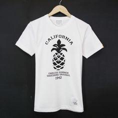 MADE IN JAPAN:Print T-Shirts Pineapple Summer/パイナップル サマー・半袖Tシャツ [WHITE]