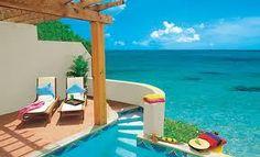 St. Lucia Sandals Honeymoon suite patio!!! YES PLEASE!!!