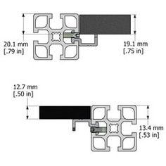 MiniTec T-fente Extrusions aluminium. Modulaires profilés aluminium pour la coutume Construction De extrusions d'aluminium. Chambres personnalisé propres, Postes de travail ergonomiques, Convoyeurs, et les gardiens de machines ne sont que quelques applications.