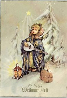 Soloillustratori: Search Results for Josefine Batke-Koller Christmas Scenes, Christmas Carol, Christmas Angels, Vintage Christmas Cards, Xmas Cards, Vintage Cards, Holiday Images, Christmas Pictures, Antique Pictures