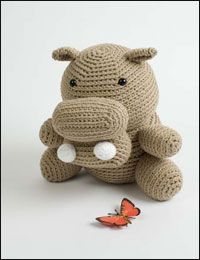 Hugo the Not So Hungry Hippo by Stacey Trock - one of 8 free amigurumi patterns