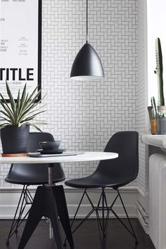 ECO Wallpaper, Black & White, 6070