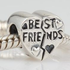 Amazon.com: Best Friends Heart Authentic 925 Sterling Silver Bead Fits Pandora Chamilia Biagi Troll Charms Europen Style Bracelets: Jewelry