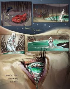 Has art ever stabbed you in the heart like a knife? - Album on Imgur I'm Fine, Cosmic Comics, Water Art, Creative Artwork, Illustrations, Illustration Art, Eye Color, Chiara Bautista, Cool Art