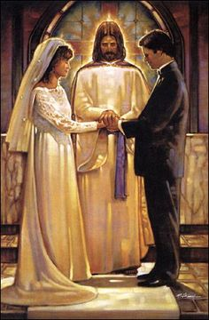 Ron DiCianni art print: The Covenant. Don't forget to count with Jesus too before you make a decision in your marriage! Catholic Art, Religious Art, Catholic Wedding, Image Jesus, Saint Esprit, Jesus Art, Bride Of Christ, Prophetic Art, Biblical Art