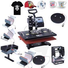 Digital 8 in 1 Transfer Heat Press Machine Sublimation for T-Shirt Mug Cap dish
