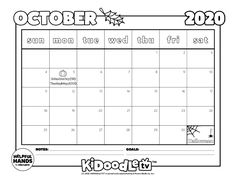 Color in and customize your own printable October monthly schedule! Adobe Acrobat, Home Schooling, Homestead, Schedule, Back To School, Activities For Kids, Periodic Table, Computers, Homeschool