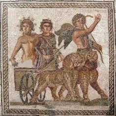 Mosaic of Triumph of Bacchus - circa 2nd-3rd c. AD, from Roman period - at the Museum of Sevilla