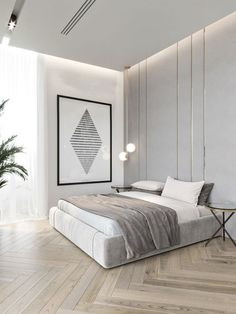Modern Bedroom Design, Home Interior Design, Bedroom Design Minimalist, Contemporary Bedroom Decor, Modern Apartment Design, Modern Master Bedroom, Minimalist Room, Simple Interior, Minimalist Home Interior