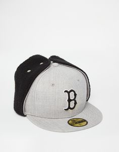 best website 068d7 99b7c Boston Red Sox Heather Dog Ear 59Fifty Fitted Baseball Cap by NEW ERA x MLB  Fitted