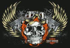 H.D. Skull Art