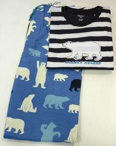 Pijama hatley Polar Bear. Pijama de rayas en tono marino y blanco en 100% Algodón. #regalos #pijamashombre http://www.varelaintimo.com/40-pijamas