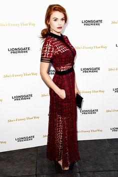 """Holland Roden attends the Los Angeles Premiere of Lionsgate's """"She's Funny That Way"""" at Harmony Gold on August 19, 2015 in Los Angeles, California."""
