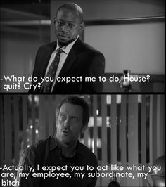 Deception: Season 2 Episode 9: originally broadcast on Fox on December 13, 2005: written by Michael R. Perry | Dr. Gregory House (Hugh Laurie) and Dr. Eric Foreman (Omar Epps)