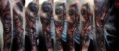 #Devil'sHand #Dark #Tattoo #SleeveTattoo #PerlaTattooKonwent #wLublinie